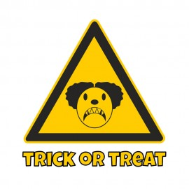 Tricou personalizat alb Halloween Trick or treat #306