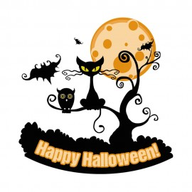 Tricou personalizat alb Halloween Happy Halloween Cartoon #302