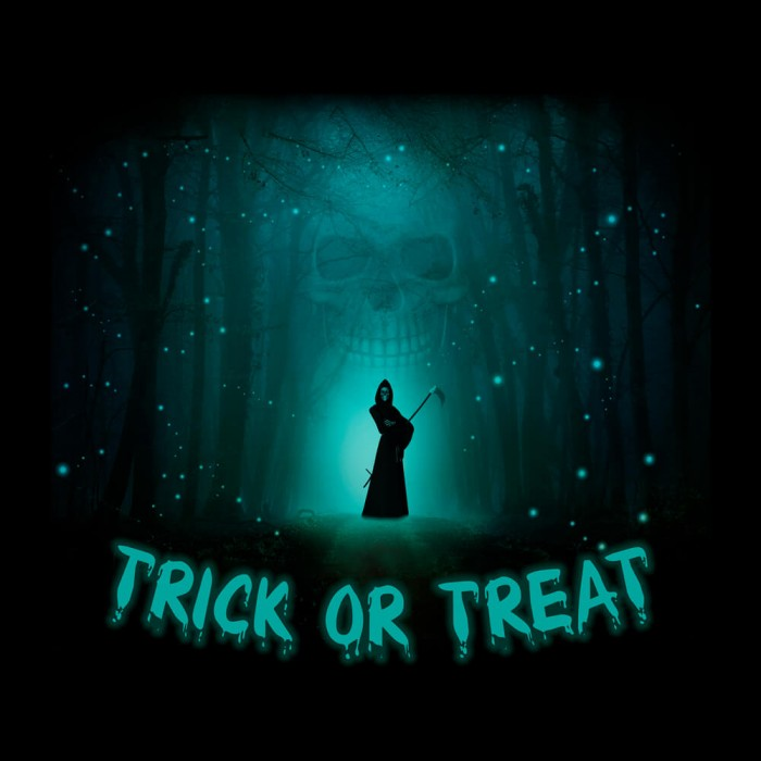 Tricou personalizat Halloween Trick or treat death #299